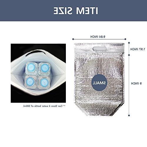 Ohara Insulated Easy Zip Lock Resealable Aluminum Bag Snack Hot Cold
