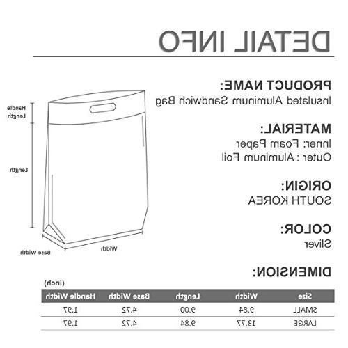 Ohara Easy Zip Lock Resealable Bag - Thermal Snack Camping Hot &
