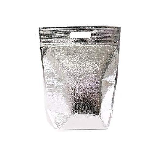 insulated easy zip lock resealable