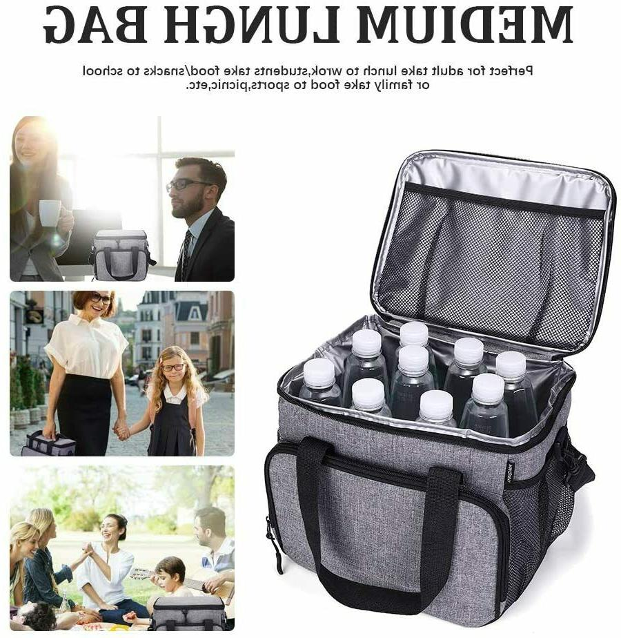 Insulated Food Lunch Bag Tote Thermal Lunch Box Thermos Men