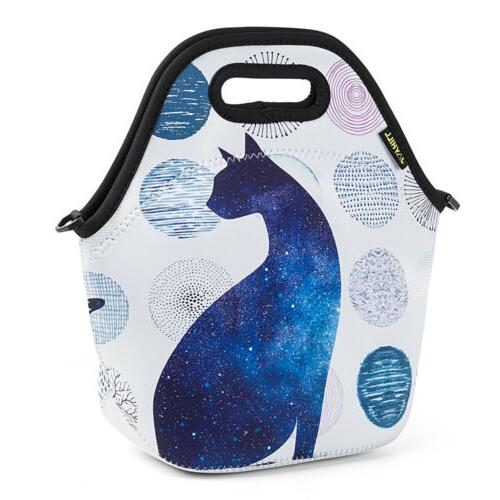 Neoprene Insulated for Girls Large Food Lunch Box Tote
