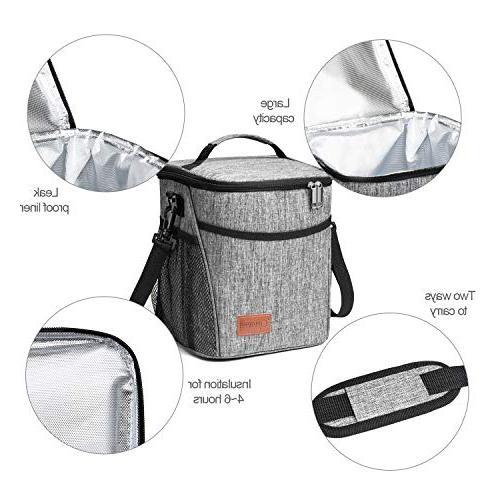 Glotoch Lunch Men Children, Thermal Bento Bag, Water-Resistant Leakproof Cooler Bag for