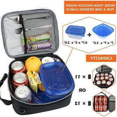 Insulated Lunch Bag Work Office Women