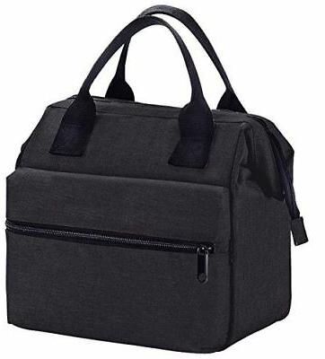Insulated Cooler Women Heavy Nylon-Black