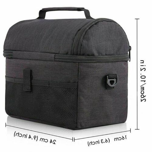Insulated Lunch Bag for Men Cooler Hot Cold Tote K