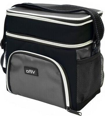 insulated lunch bag dual compartment cooler tote