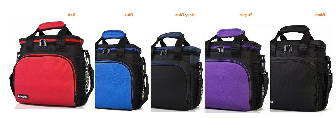 Insulated lunch bag: InsigniaX Fitness BPA free Thermal Poly