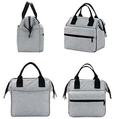 Insulated Lunch for Men & Women Heavy Duty Grey