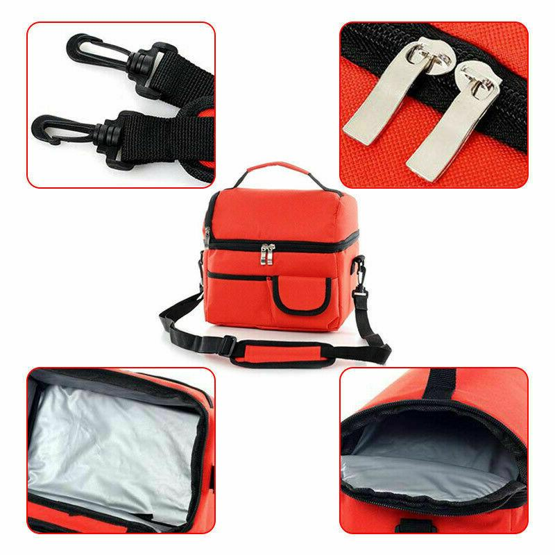 Insulated Men Women Thermos Cooler Tote Lunch