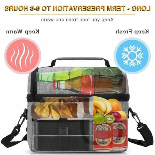 Insulated Lunch Cooler Women Kids Tote Lunch Box