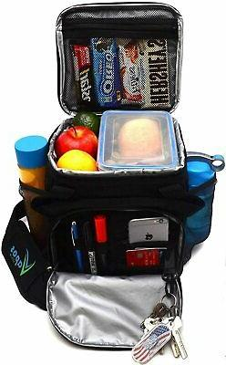 Large Insulated Lunch Bag for Men and Women with Room for Mo