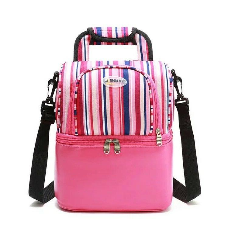 Insulated capacity Double deck Lunch Bag