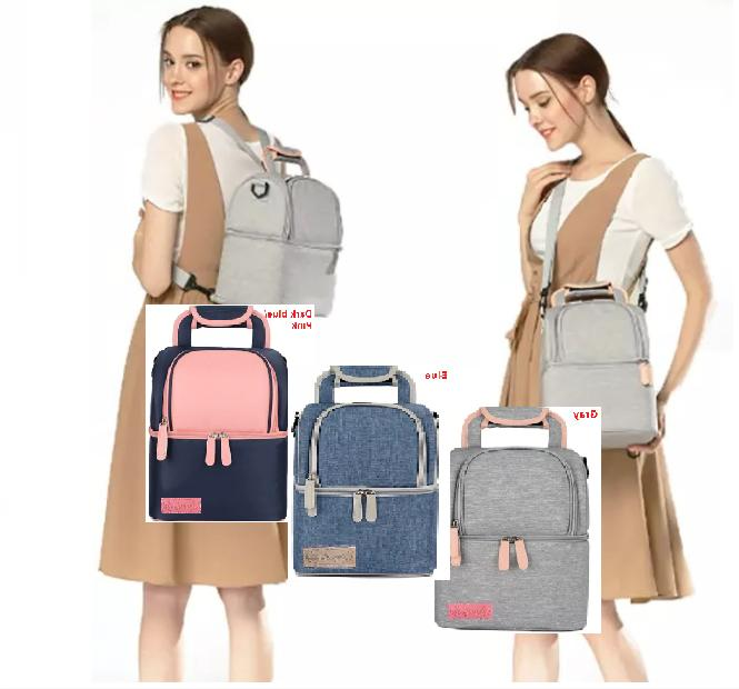 Insulated lunch Large capacity Double deck Lunch Bag