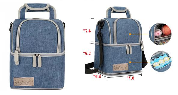 Insulated capacity Double Lunch Bag
