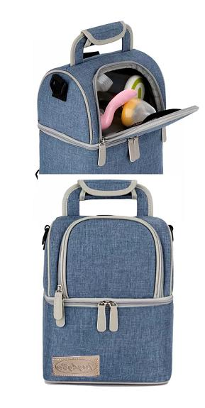 Insulated bag: Large capacity HighQuality Double Lunch