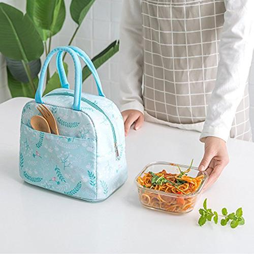 Insulated Lunch Portable Cooler Reusable Lunch box Lunch Organizer for Flowers