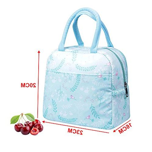 Insulated Portable Cooler Tote Reusable Lunch box for Adults&Kids, Language