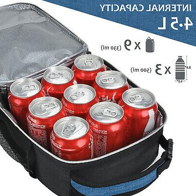 Insulated Lunch Bag Portable Lunch Tote Lunch Box Men