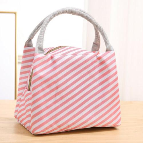 Insulated Lunch Bag Cooler Kids Picnic Food Box Tote Carry Bags