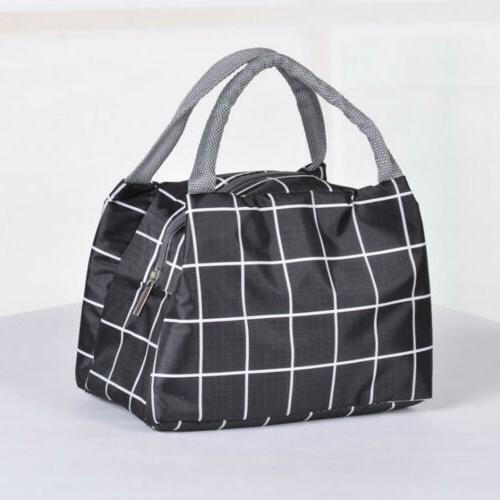 Insulated Lunch Bag Cooler Women Food Box Tote Bags