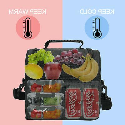 Insulated Cooler Container 2 Leakproof Bento