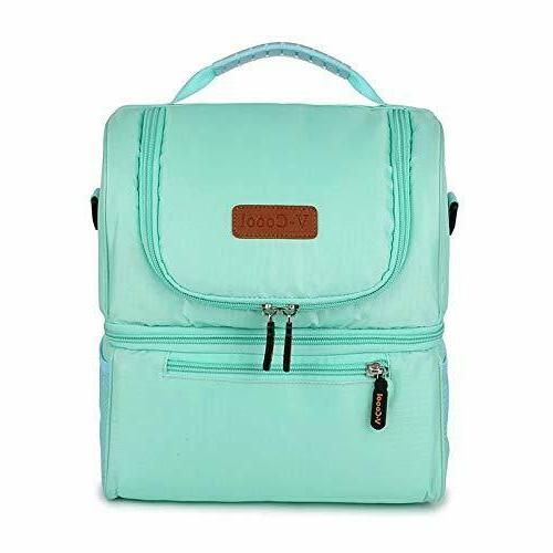 Insulated bag: Waterproof Large Capacity Double Tote