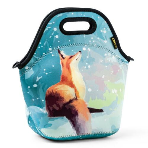 neoprene insulated cute lunch bags for girls
