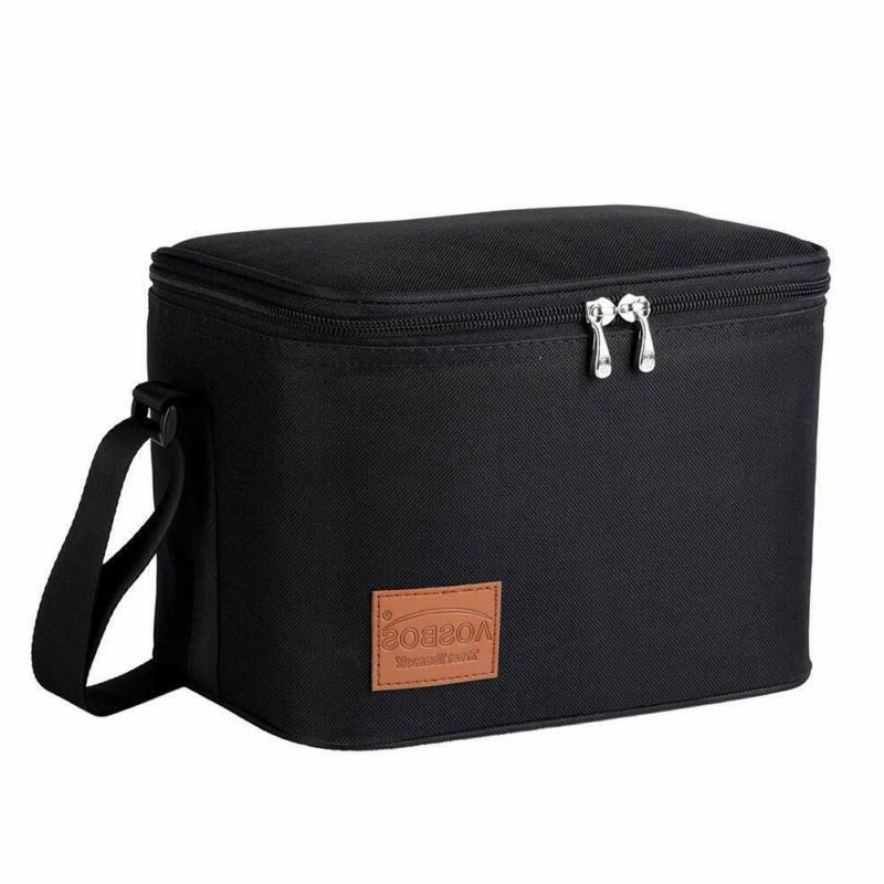 insulated lunch box bag cooler reusable tote