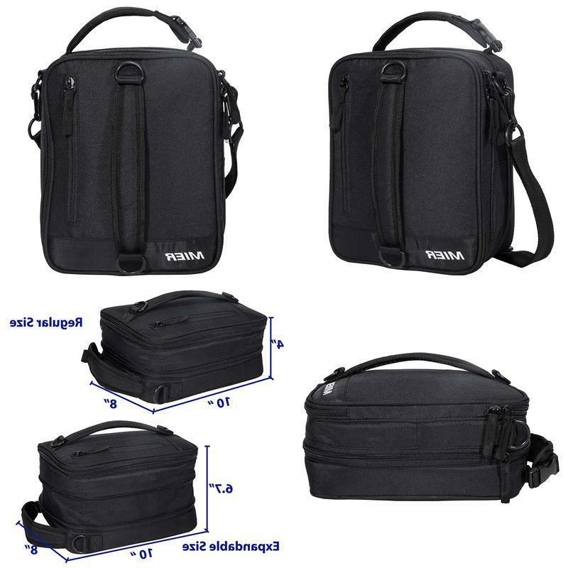 insulated lunch box bag expandable lunch pack
