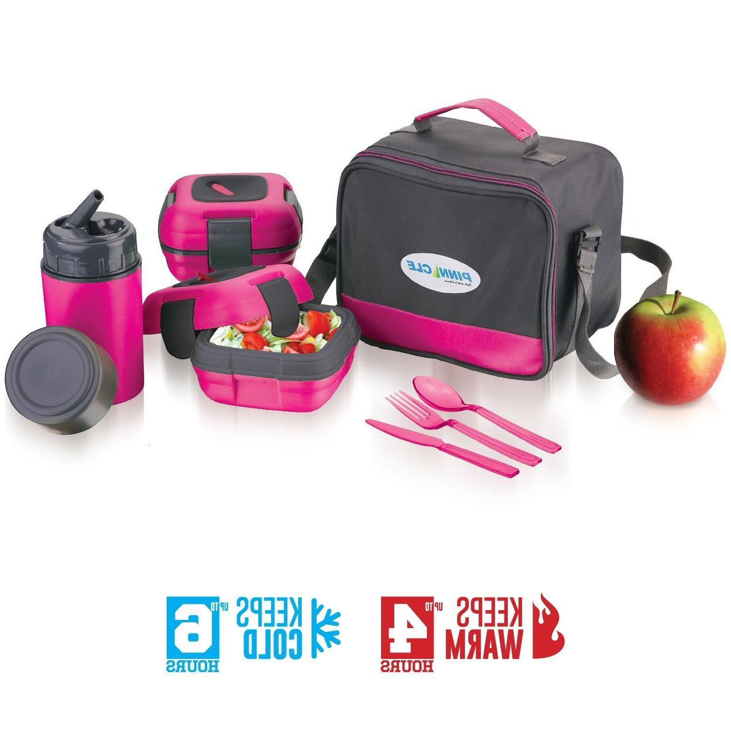 Insulated Bag Set Adults and Kids + Bottle, Containers, Cutlery