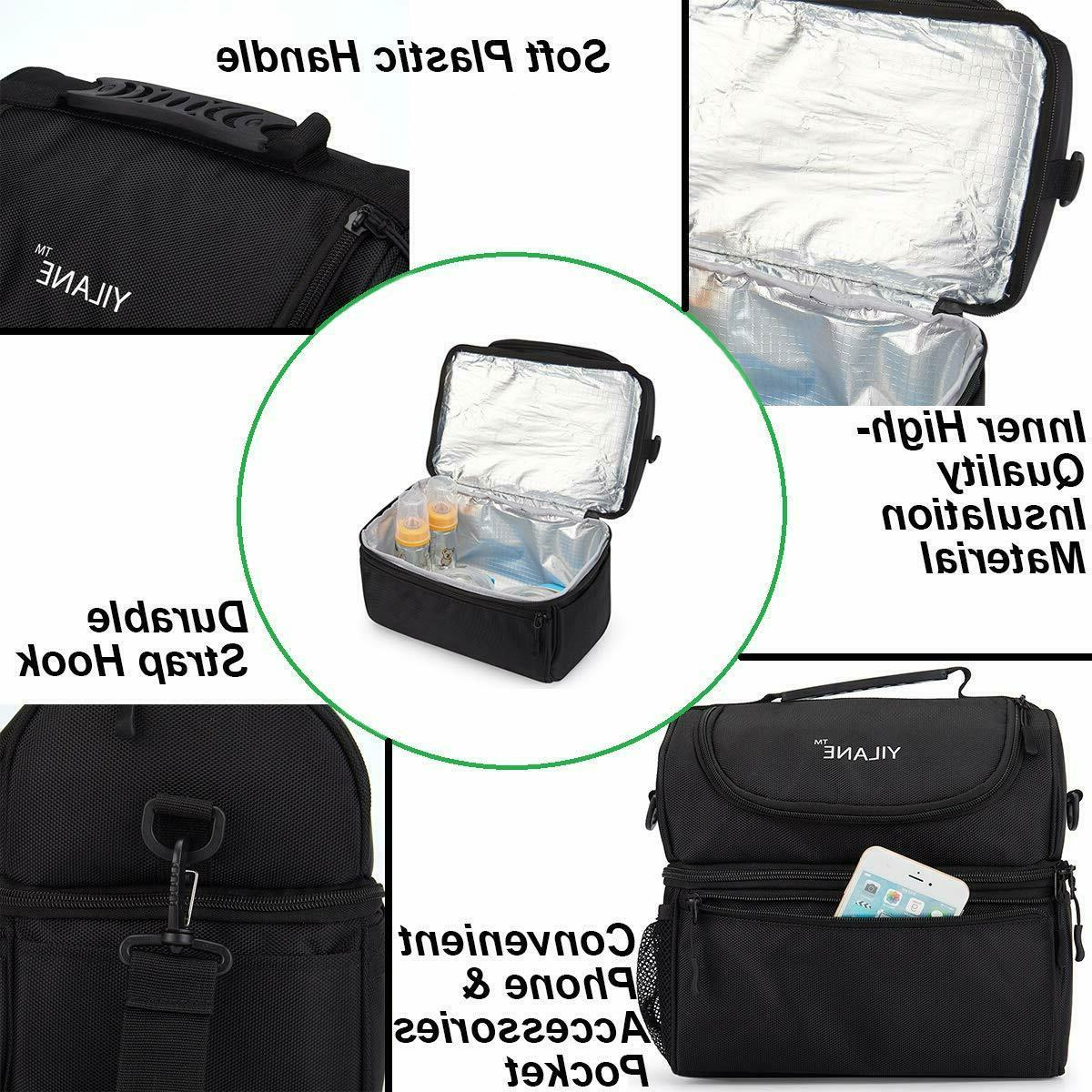 Insulated Lunch Bag for Thermos Cooler Hot Adult Tote