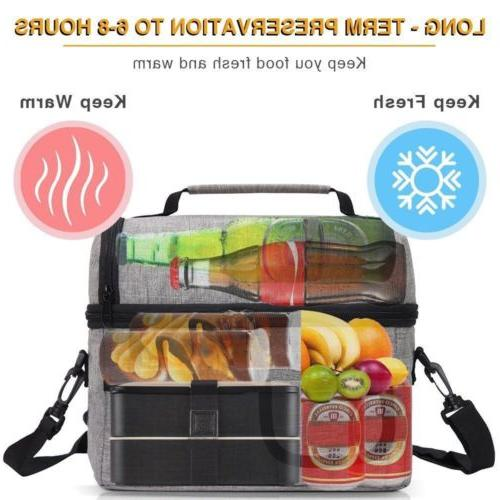 8L Insulated Lunch Box Tote Men Thermal Bag