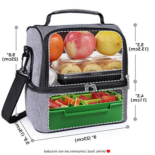Lifewit Lunch Water-Resistant Leakproof Cooler Bento for Work/School/Meal Prep, 7L, Grey