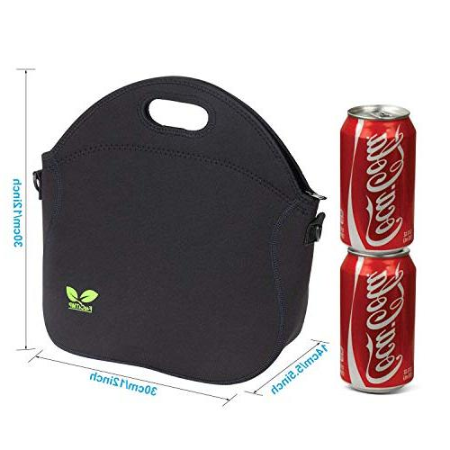 Neoprene Tote Lunchbox Insulated Lunch Bag Strap Extra for School Picnic by