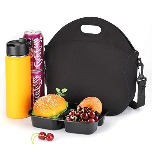 Neoprene Lunchbox Lunch Bag Strap School Office Picnic by F40C4TMP