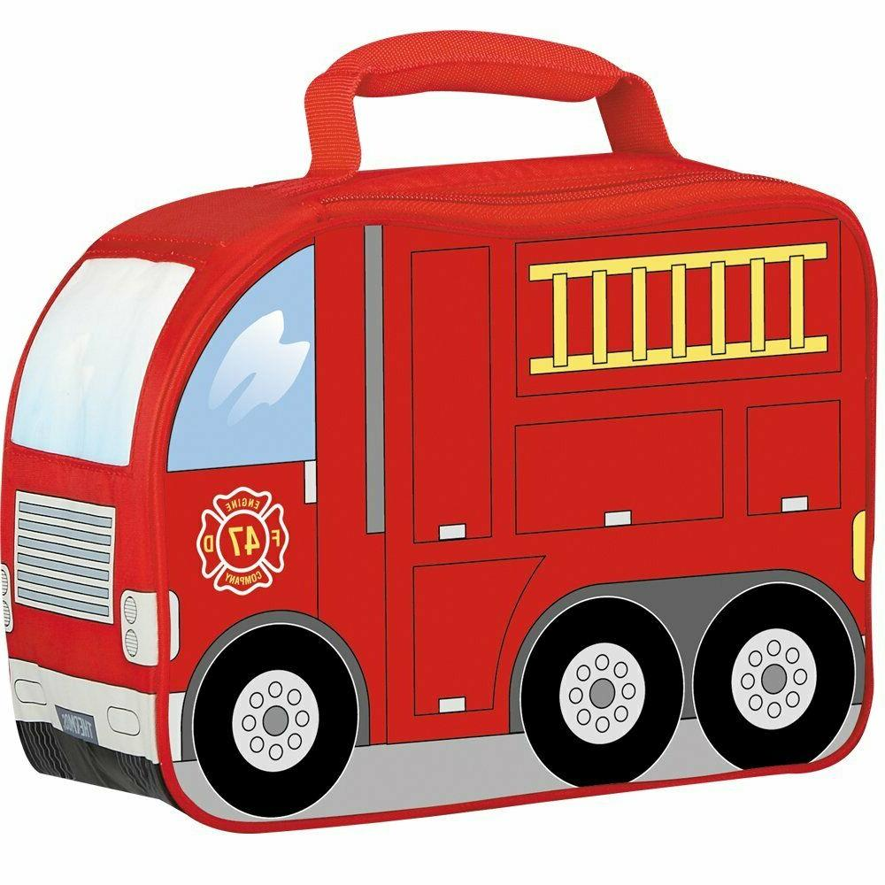 Thermos Insulated Soft School Food Lunch Box Kit Fire Truck