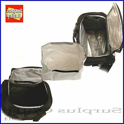 Black Insulated Lunch With Adjustable Removable Liner