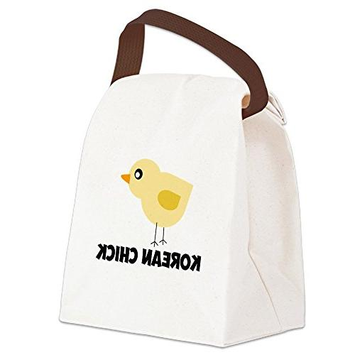korean chick canvas lunch bag canvas lunch