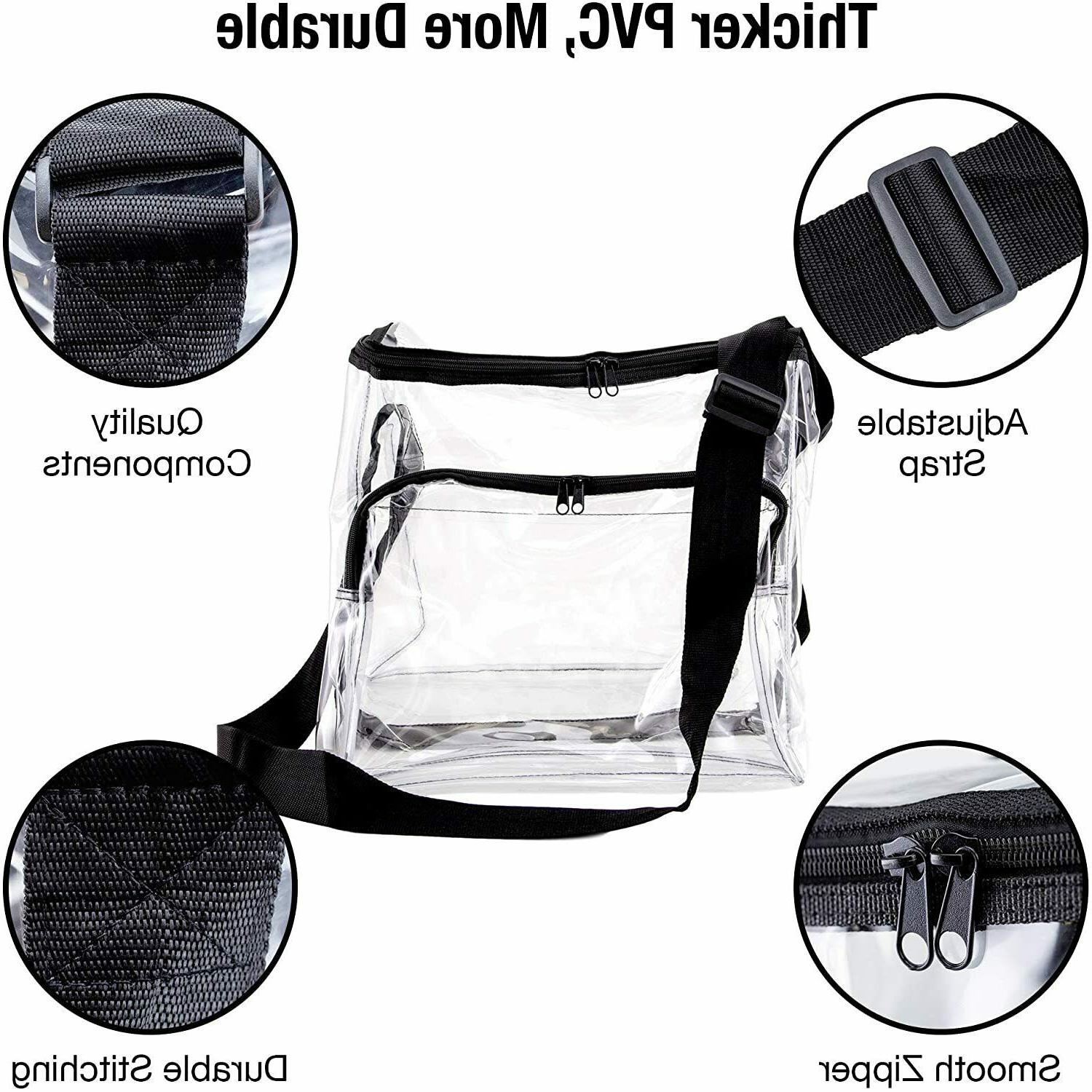 Large Clear Lunch with Strap Assorted
