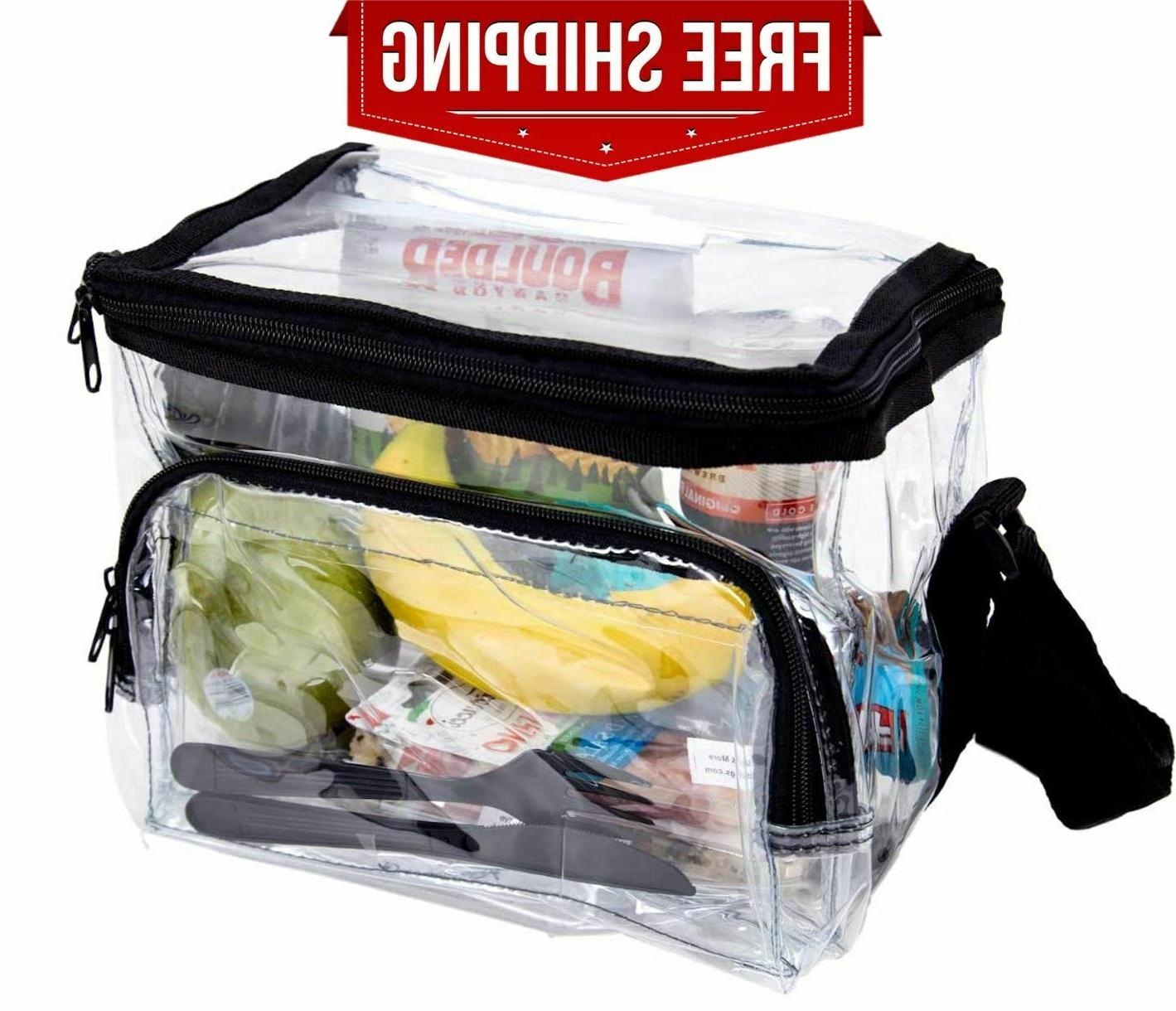 large clear lunch bag lunch box