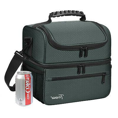 large insulated lunch bag totes cooler leakproof