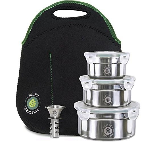 leakproof stainless steel lunchbox set