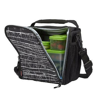 lightweight lunchblox lunch bag medium black etch