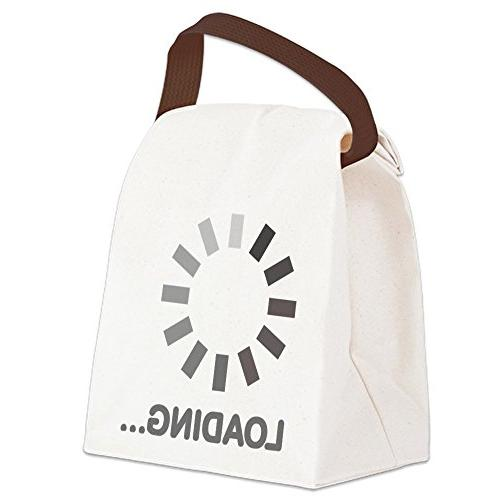 loading bar internet canvas lunch bag canvas