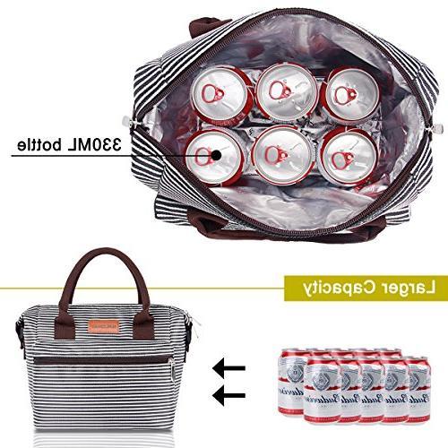 BALORAY for Women with Adjustable Shoulder Leakproof Cooler Bag