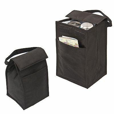 lunch bag bags box recycled insulated black