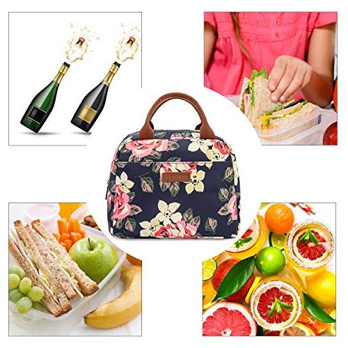 LOKASS Lunch Bag Bag Women Bag Insulated Lunch Box Water-resistant Thermal Lunch Bag Soft Leak Bags