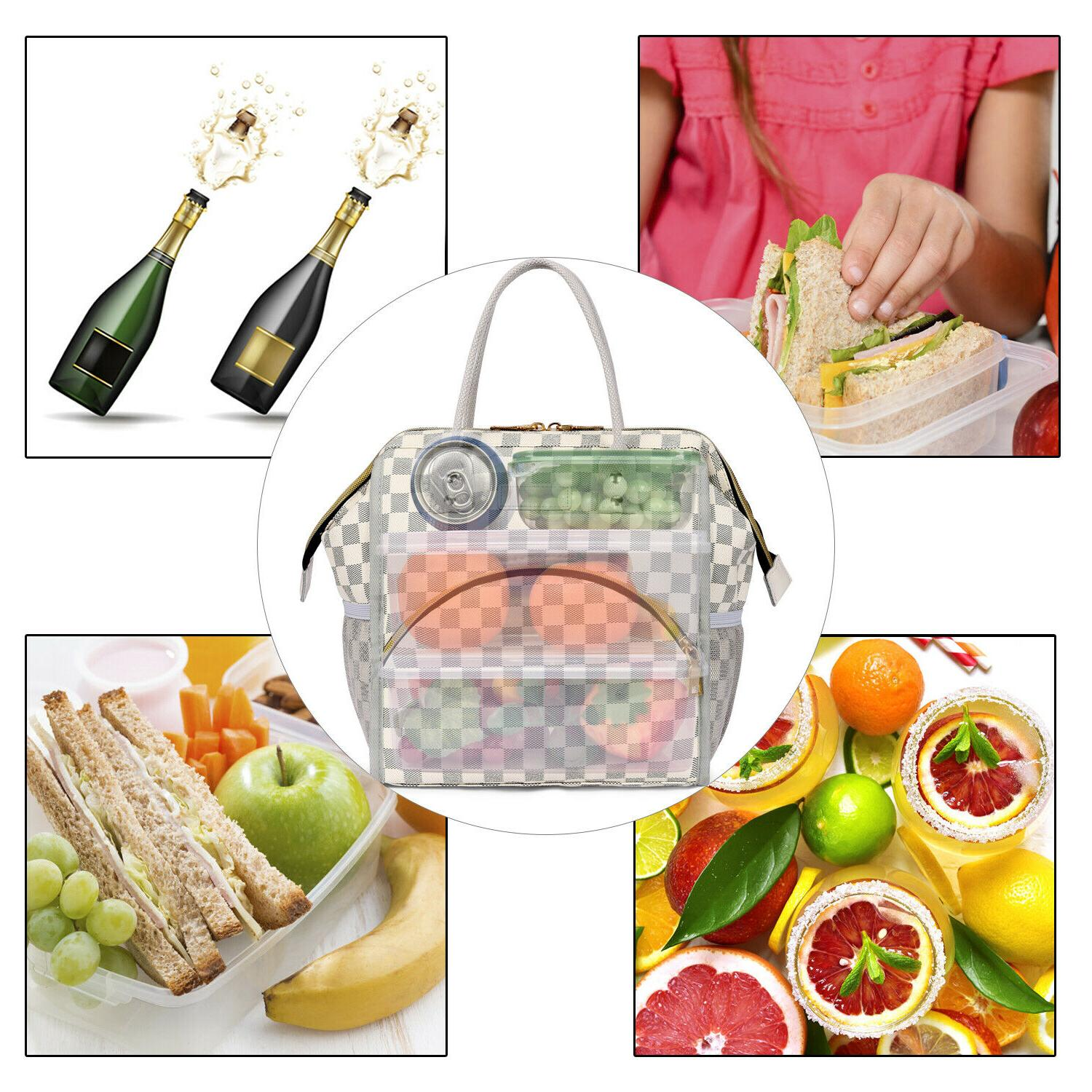 Insulated Lunch Food Wide-Open Lunch Tote Organizer