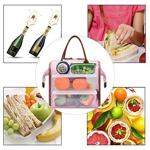 Lunch Tote Lunch Cooler Drinks Holder Snacks Men Activity,Rose