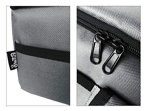 PuTwo Bag Insulated Lunch Bag Box Women Lunch Men Cooler Bag with YKK Zip and Shoulder Strap Lunch Tote for Kids Lunch Grey